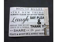 New Adhesive Wall Sticker - House Rules