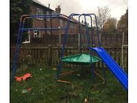 Climbing frame/slide and swing