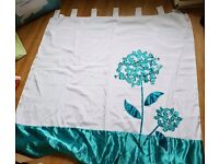 Next teal blossom curtains