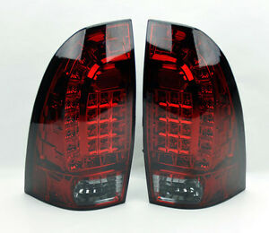 toyota tacoma 05 14 led rear tail lights red smoke smoked. Black Bedroom Furniture Sets. Home Design Ideas
