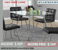 CHAISES ET TABLES - CHAIRS AND TABLES CASAELITE.CA
