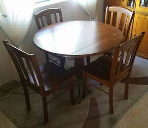 Collapsable Timber 4 Seater Dining Table Set (EXC) Padstow Bankstown Area Preview