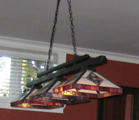 VINTAGE POOL TABLE CHANDELIER for $300