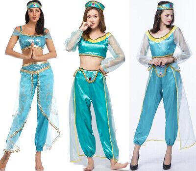Damen Aladdin Prinzessin Jasmin Erwachsene Anzug Cosplay Kleid - Jasmine Kleid Kostüme