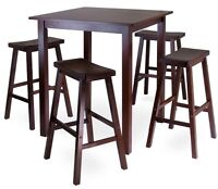 Bistro pub dining table set with 4 stools