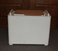 Vintage Wicker Laundry Hamper with Lid - Reduced
