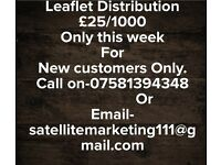 Leaflet distribution special offer.