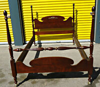 Double Poster Bed, Antique, by Gibbard, Refinished (delivery)