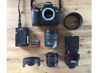 Nikon D70 Camera, Lens, Speedlight + Acc