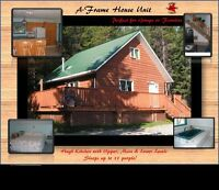 Aframe House\ Cabin Rental Crowsnest Pass AB Vacation Rental