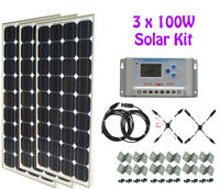 300W Solar Kit + 30A controller + cable
