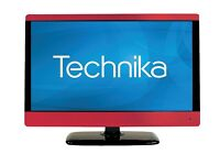 "TV with built in DVD Player 23"" and remote - red metallic trim"
