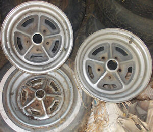 "3 GM (BUICK?) FACTORY RALLY WHEELS 14"" x 6"""