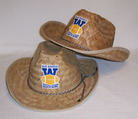 2 - Blue Bombers BANJO BOWL Straw Western Hat ~ Mens Large