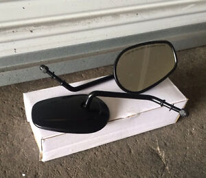 Black Mirrors for XL/Sportster, Dyna & Softail, Shipping Avail.