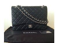 Chanel jumbo bag black silver not hermes Gucci prada lv