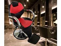 Barber Styling Tattoo Threading Beauty Hairdresse Hydraulic Recline Chair BX2668B red and black