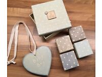 baby boy keepsake boxes and plaque shabby chic vintage style