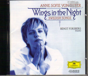 Anne Sophie von Otter - Wings in the Night (Swedish Songs) West Island Greater Montréal image 1