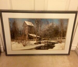 Mill picture and frame (Has non glare glass!)