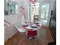 Contemporary Furniture Village New York - Table & Four Chairs