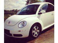 VW white beetle, low mileage!