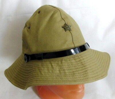 Russian Soviet Army Afghanistan War Uniform Panama Hat Green Star Badge 58cm New