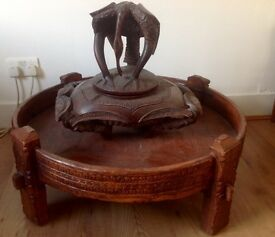 Large Indian Chakki spice grinder table , ottoman, pouffe Delivery ?