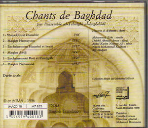 Chants de Baghdad - l'Ensemble al-Tchalghi al-Baghdadi West Island Greater Montréal image 2