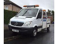 07 Mercedes sprinter lwb spec lift recovery truck takes 4wd & bikes also