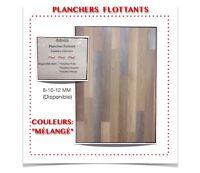 """(444-7)  PLANCHER FLOTTANT """"COULEUR MÉLANGÉ""""  0.69$ /P.C"""