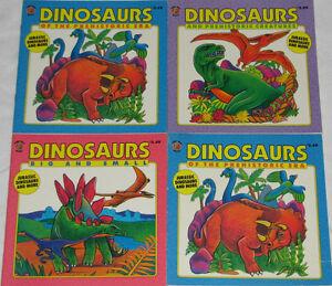 Qty 4 x Classic Dinosaur Books Set