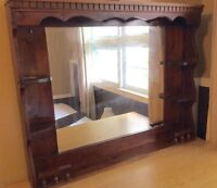 Large Mirror with light on top