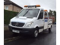 07 plate Mercedes sprinter spec lift recovery truck can take 4wd and motorbikes also mot'd may 2017