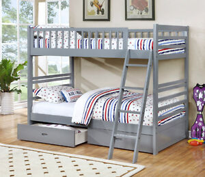 NEW! Twin/Twin Wood Bunk Bed w/ Storage Drawers, Free Delivery! Edmonton Edmonton Area image 4