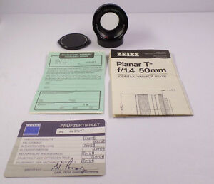 Carl Zeiss Planar T f1.4 50mm AEJ Lense for Contax/Yashica Mount Windsor Region Ontario image 6