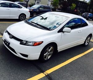 Honda Civic Coupe Automatic in White - Low KMS!!