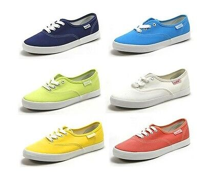 New Fashion Gilr Women Candy Colored Casual Canvas Shoes Retro Low Sneakers N281