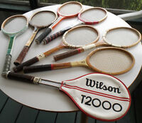 Collectable Vintage Wood and Metal Tennis Rackets