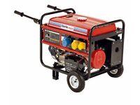 Generator 5.5kva 11hp electric start as new