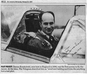 WWII Fighter Pilot The First TO Test  Fly The RCAF Avro Arrow