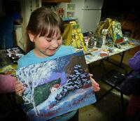 Camp de peinture d'une semaine à la Galerie Jani-Art cet été...