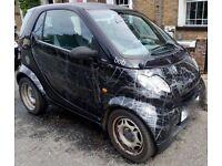 Smart Car Pure called 'Bob' in 'Scratch Black' 74,000 miles MOT 10/08/18 2 Keys