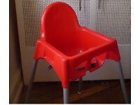 IKEA antilop high chair and insert