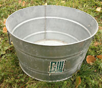 GW GALVANIZED ROUND WASH TUB EXCELLENT