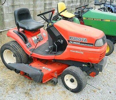 Kubota Tg1860 Tg1860g Lawn Garden Tractor Shop Service Repair Manual Cd
