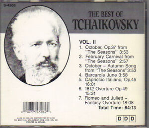 Tchaikovsky (1840-1893) - The Best of Tchaikovsky Vol. II West Island Greater Montréal image 2