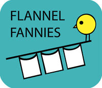 Cloth Diapers - FLANNEL FANNIES - Old fashioned diaper flats