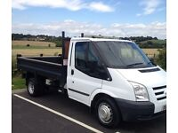 REDUCED TO CLEAR 2011/61 Ford transit tipper very low milage