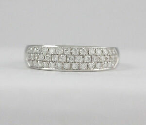 14k White Gold Diamond Pave Set Ring (0.52 tdw) #1924